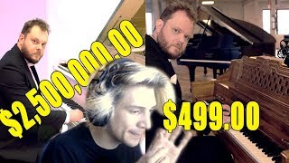 xQc Reacts to Can You Hear the Difference Between Cheap and Expensive Pianos?