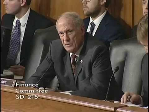 Senator Coats Attends a Senate Finance Committee Hearing on Trade Policy