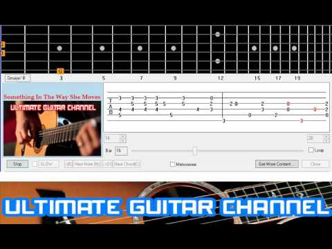 Guitar Solo Tab Something In The Way She Moves The Beatles Youtube