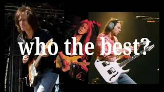 7 crazy old metal guitarist , who is the best ?