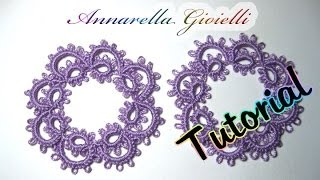 Tutorial primi orecchini a chiacchierino | How to needle tatting earrings