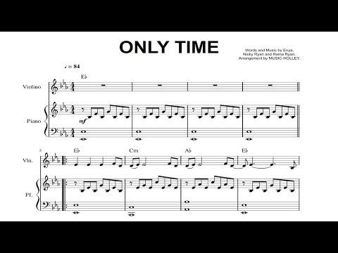 Enya Only Time Violin And Piano Sheet Youtube
