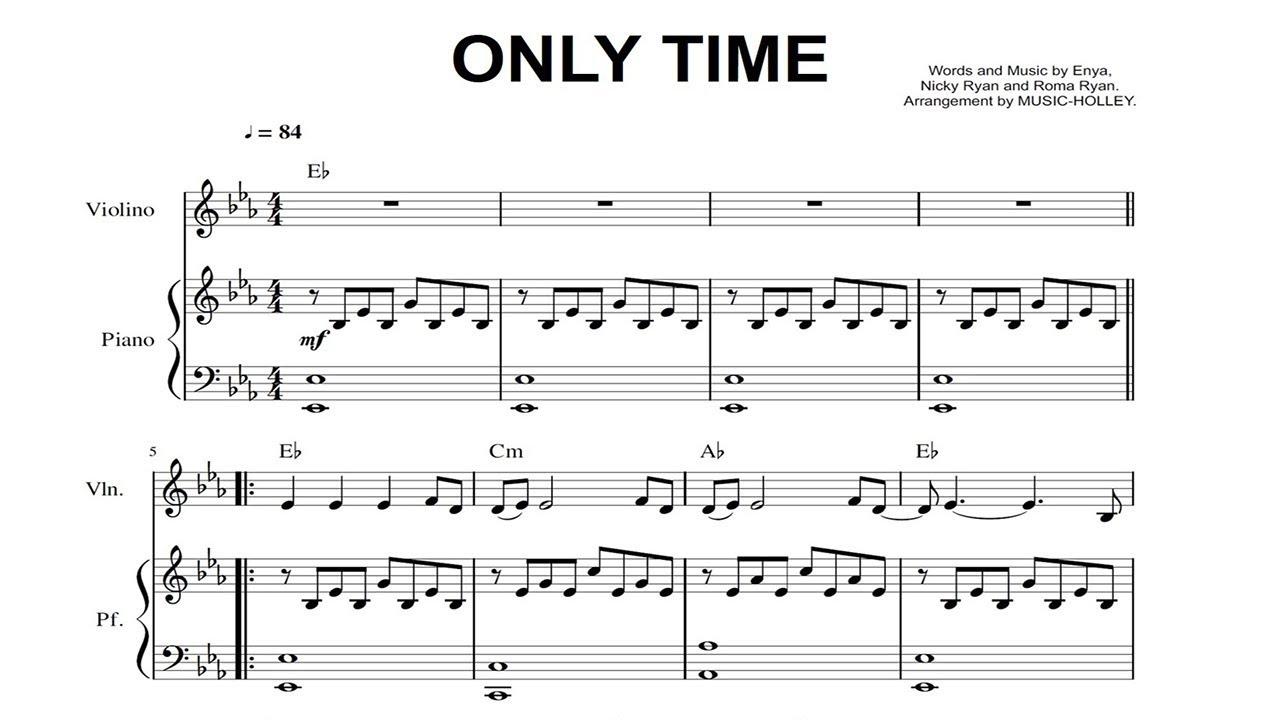 Enya Only Time Violin And Piano Sheet