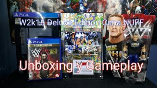 Unboxing y gameplay de w2k 18 deluxe edition cena nuff (the brodigy)
