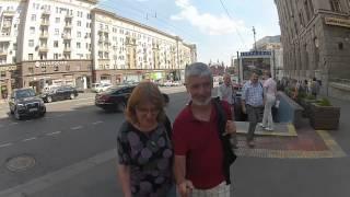 Caminando por Av Tverskaya Moscu