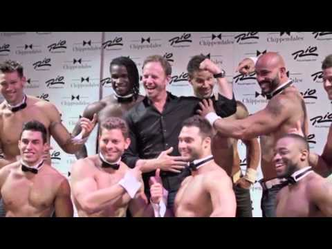 Ian Ziering Gets Ready for Chippendales Stint