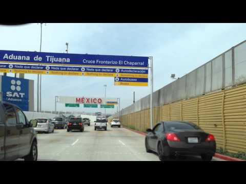 Driving Across the Boarder in Tijuana