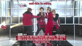 mblaq cry stay live music bank sub espaol