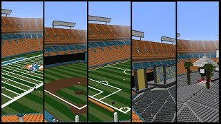Minecraft SunLife Stadium Field Transformations Timelapses +DOWNLOADS | TheCraftCrusader
