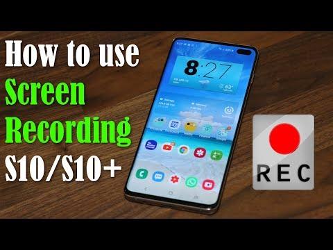 Samsung galaxy s10 screenshot video test