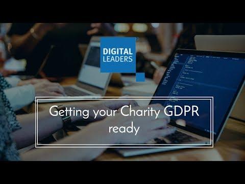 Webinar: Getting your charity GDPR ready