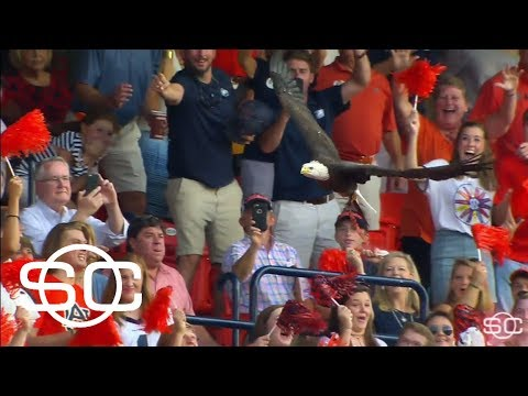 Reeve learns about Auburn's bald eagle mascot | SportsCenter | ESPN