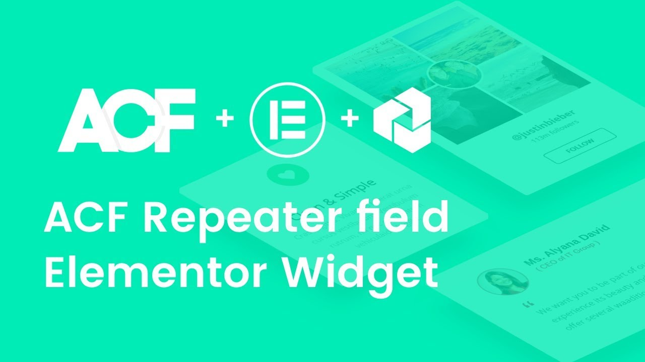 Use ACF Repeater field to create a Elementor Accordion Widget for a single post template
