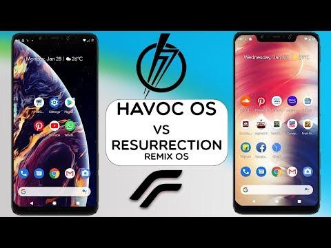 POCOPHONE F1 - RESURRECTION REMIX OS VS HAVOC OS || ANDROID