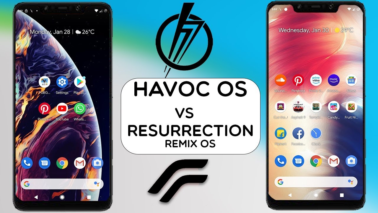 POCOPHONE F1 - RESURRECTION REMIX OS VS HAVOC OS || ANDROID 9 0 PIE || BEST  CUSTOM ROMS FOR POCO?