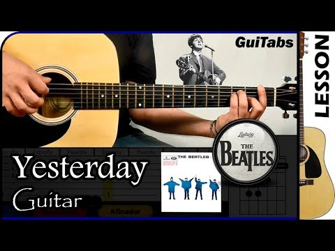 How to play Yesterday 🎸 - The Beatles / Guitar Tutorial 🎸