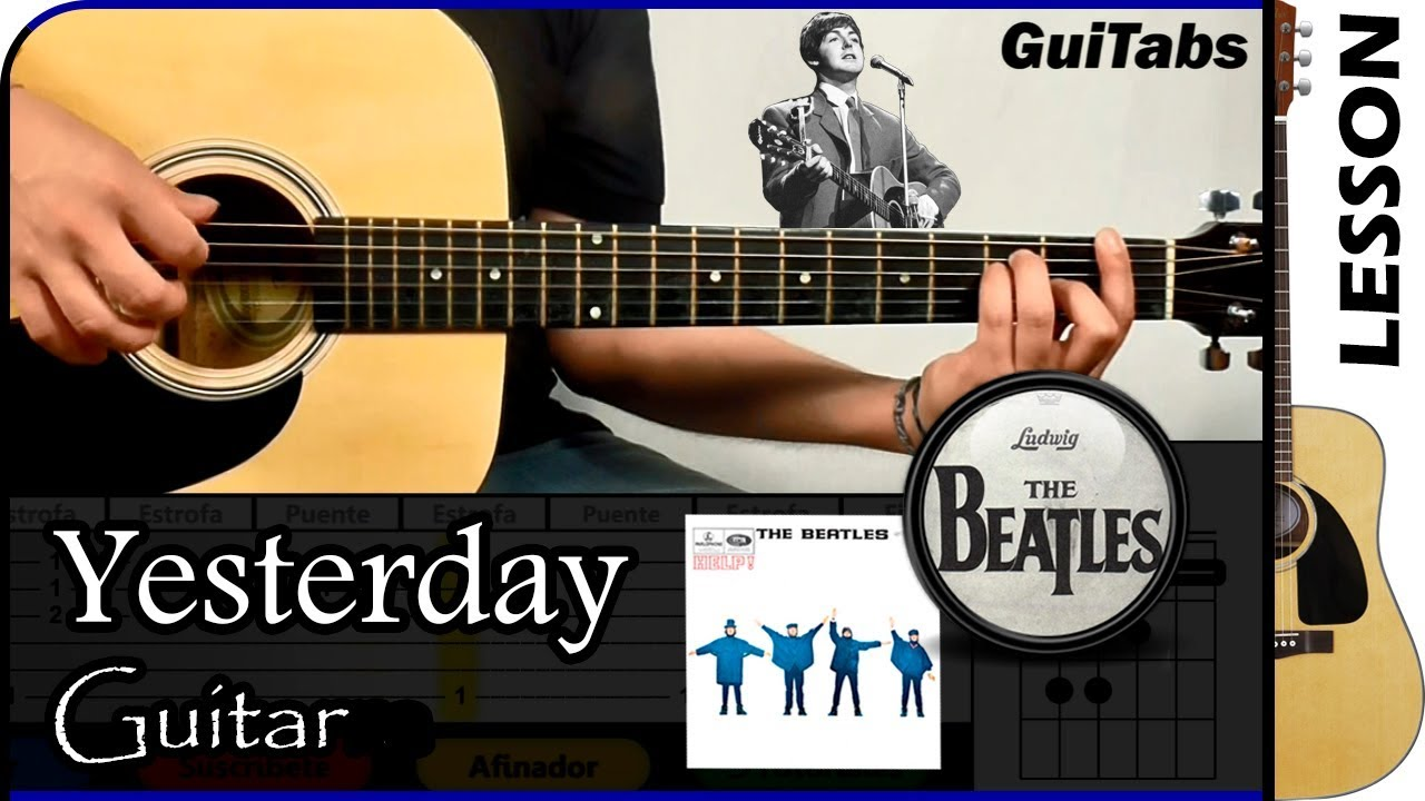 how to play yesterday by the beatles on guitar