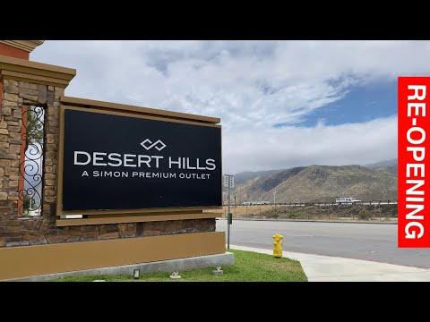 DESERT HILLS Premium Outlet Re-opening Cabazon California USA
