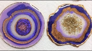 #38- 5 Ways to Create Geode Resin Coasters, on a Budget!
