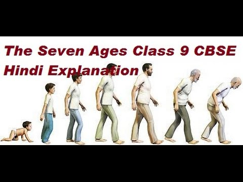 The Seven Ages Class 9 Hindi Explanation