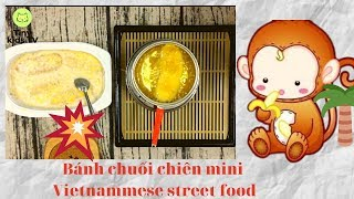 Hướng dẫn làm Bánh chuối chiên mini | vietnamese street food | miniature cooking | Tiny kids TV #6