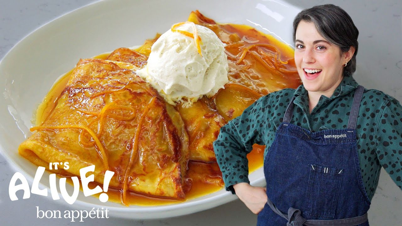 Claire Makes Sourdough Crêpes Suzette | It's Alive | Bon Appétit