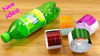 waste plastic bottle & old bangles craft idea | best out of waste | plastic bottle reuse idea