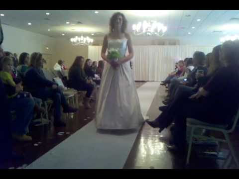 Fashion show at one of our bridal events
