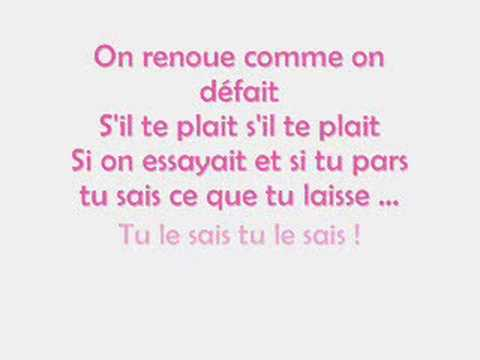 Comme on défait- Wallen- Paroles