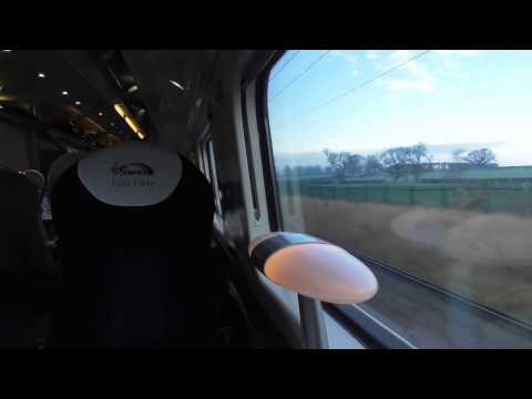 Flying Through Rugby On A Virgin Trains Class 390 (14/12/16)