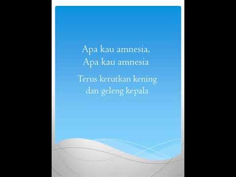 Lirik Lagu Al Ghazali-Amnesia