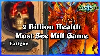 The Must See 2 Billion Health Cho Show  ~Hearthstone Heroes of Warcraft League of Explorers Video