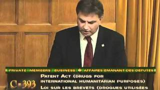 Frank Valeriote speaks in favour of Bill C-393.mp4