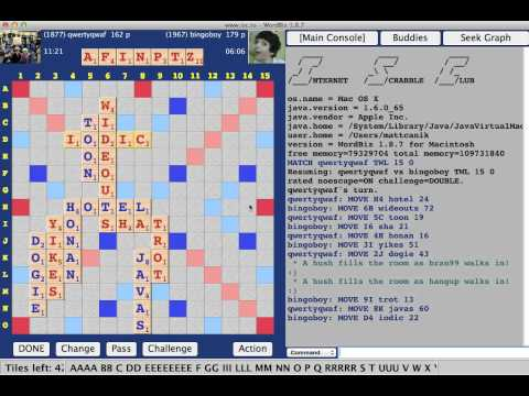 Expert Scrabble Game #1 vs. Kevin Bowerman