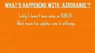 What's happening with airOrange? | Roblox airOrange Theory