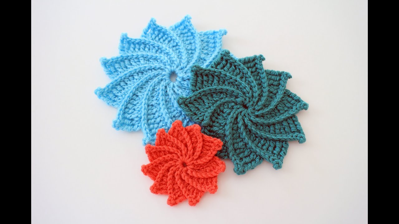 Crochet Flowers Patterns Youtube : How to Crochet the Spiral Crochet Flower - YouTube