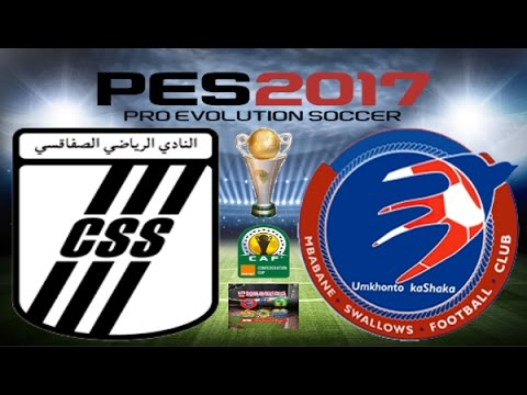 PS4 PES 2017 Gameplay Club Sfaxien vs Mbabane Swallows HD