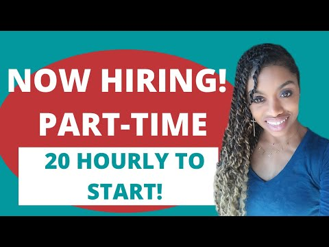 $20 Hourly Part Time Work From Home Job!