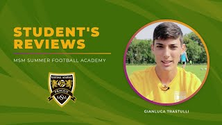 Reviews of the MSM Football Academy + English Courses in Prague. Gianluca