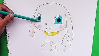 Como dibujar y pintar a Salamon (Digimon) - How to draw and paint Salamon