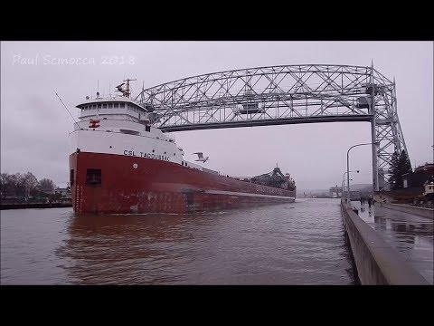This one caught me off guard, the CSL Tadoussac Departing Duluth light.