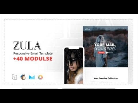ZULA Responsive Email Template Minimal Themeforest Templates - Minimal email template