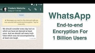 end to end encryption whatsapp in Detail 2016