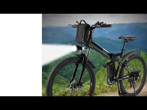 "Foldable Electric Mountain Bike 26"" with 36V 8AH Large Capacity Lithium-Ion Battery, El..."