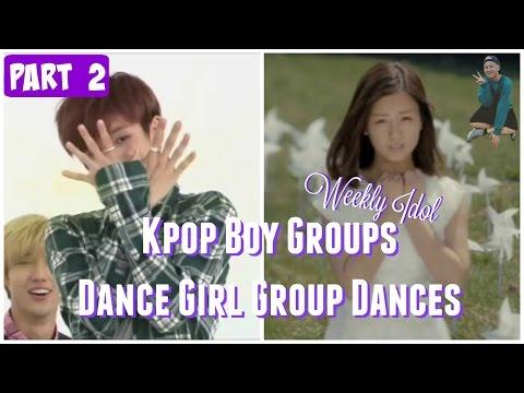 PART 2  Kpop Boy Groups Dancing Girl Group Dances  WEEKLY IDOL EDITION