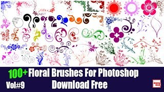 Floral Brushes For Photoshop Vol#9 Download Free By Adobe Box 2018