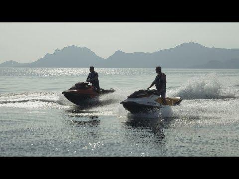 Sur la Côte d'azur en motomarines