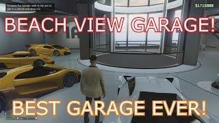 GTA 5 Online - Tour Of The Best Ever Car Garage! (Beach View)