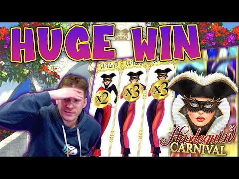 HUGE WIN On Harlequin Carnival Slot - £6 Bet
