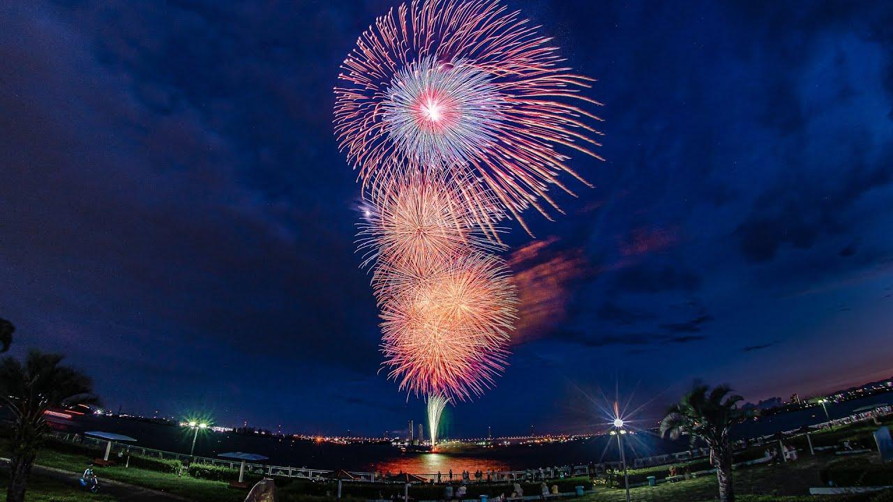 [4K] 名古屋港サプライズ花火 2021 - Nagoya Port Surprise Fireworks Display - (shot on BMPCC6K)